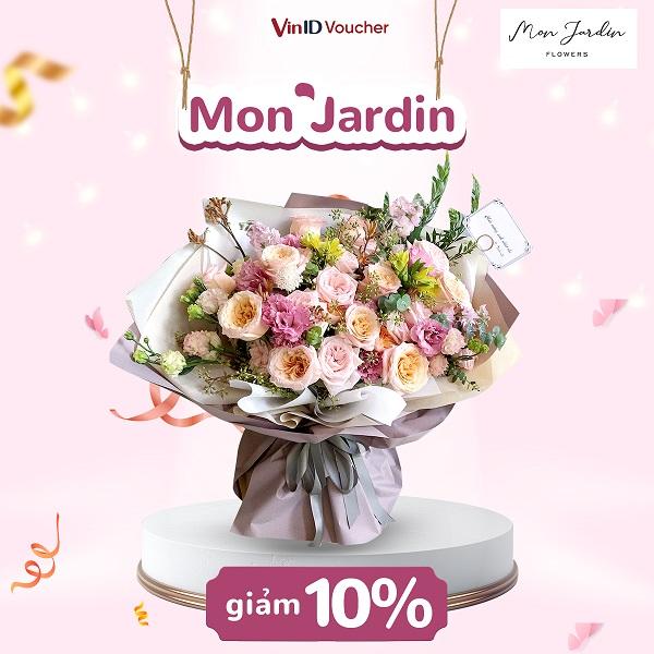 Giảm ngay 10% tại Mon Jardin Flowers cho người dùng app VinID