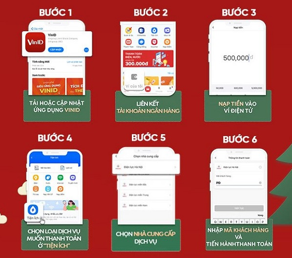 Hướng dẫn đóng tiền điện bằng ví điện tử VinID Pay
