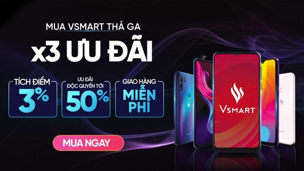 Mua Vsmart trên ứng dụng VinID