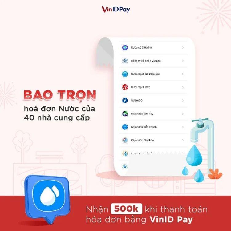 VinID bao trọn hóa đơn nước của 40 NCC