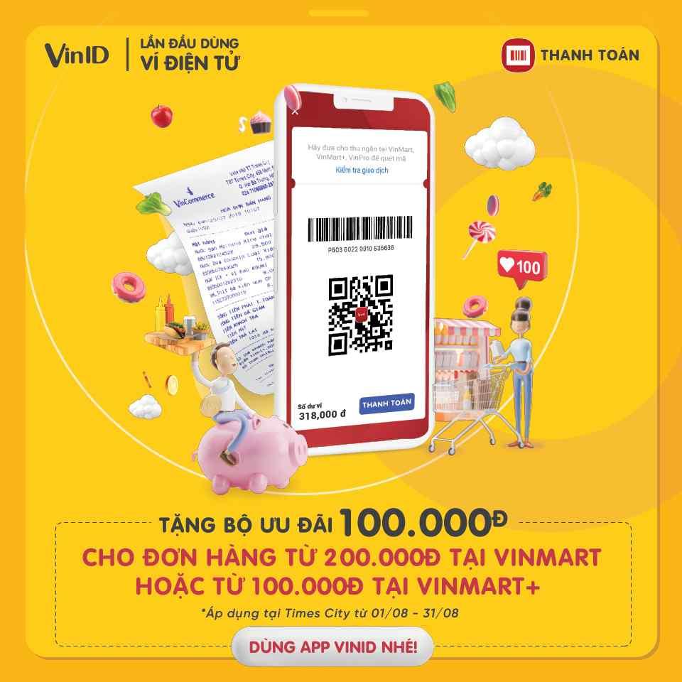 Tài khoản VinID nhận ưu đãi bao nhiêu trong tháng 8