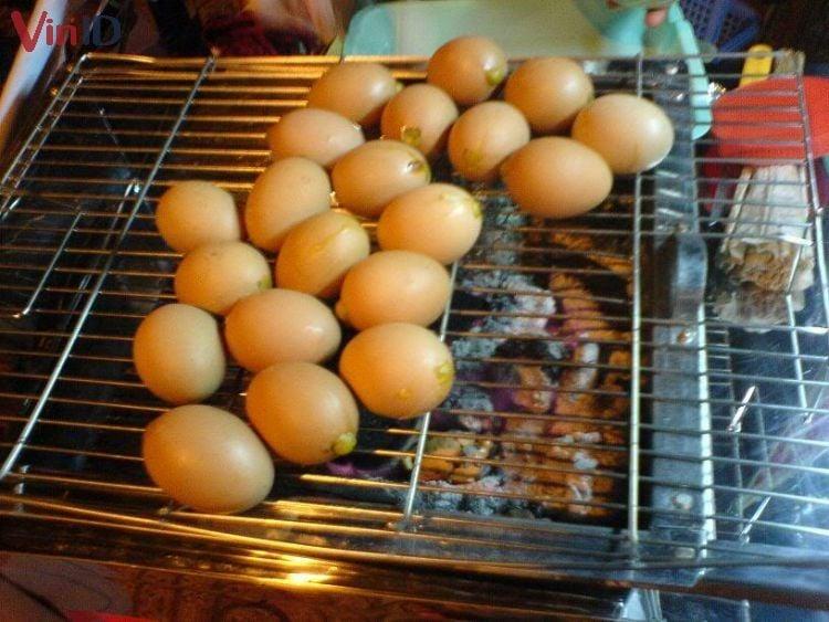 Trứng gà nướng Sapa