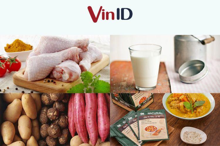 Thịt gà, sữa tươi và bột cà ri là nguyên liệu chính cho món ăn này